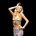 זול הלבשה לריקודי בטן-ריקוד בטן חלקים עליונים בגדי ריקוד נשים אימון ביצועים טול חרוזים חלק 1 בלי שרוולים עליון
