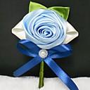 baratos Bouquets de Noiva-Bouquets de Noiva Buquês Alfinetes de Lapela Outros Flor Artificial Casamento Festa / Noite Material Renda Cetim 0-20cm