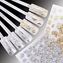 cheap 3D Nail Stickers-24 pcs Flower / Wedding / Fashion Water Transfer Sticker / 3D Nail Stickers Daily / Plastic