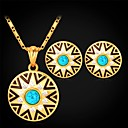 cheap Rings-Turquoise Jewelry Set - Rhinestone, Turquoise Vintage, Party, Work Include Pendant For / Earrings / Necklace