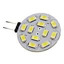 olcso Bajonettzáras LED lámpák-1.5W 150lm G4 LED szpotlámpák 12 LED gyöngyök SMD 5730 Meleg fehér / Hideg fehér 12V