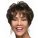 cheap Hair Accessories-Synthetic Wig Natural Wave Synthetic Hair 4 inch Brown Wig Women's Short Dark Brown
