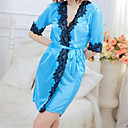 cheap Clutches & Evening Bags-Women's Plus Size Sexy Suits Ultra Sexy Robes Lace Lingerie Nightwear - Print, Patchwork