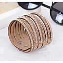 cheap Bracelets-Women's Wrap Bracelet / Leather Bracelet - Resin, Imitation Diamond Unique Design, Fashion Bracelet Purple / Blue / Camel For Wedding / Party / Daily