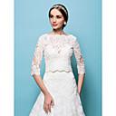 זול עליוניות לחתונה-תחרה חתונה / מסיבה / ערב כורכת חתונה עם גלימות