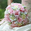 abordables Flores Artificiales-Flores Artificiales 1 Rama Ramos de Flores para Boda Rosas Flor de Mesa