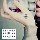 preiswerte Tattoo-Aufkleber-1 pcs Tattoo Aufkleber Temporary Tattoos Blumen Serie Glatte Aufkleber / Wegwerfbar Körperkunst Korpus / Handgelenk / Knöchel