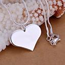preiswerte Modische Halsketten-Damen Anhängerketten - Sterling Silber Herz, Liebe damas, Modisch Modische Halsketten Schmuck 1pc Für Hochzeit, Party, Alltag