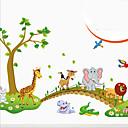 preiswerte Wand-Sticker-Tiere Romantik Cartoon Design Fantasie Botanisch Wand-Sticker Tier Wandaufkleber Dekorative Wand Sticker, Vinyl Haus Dekoration Wandtattoo