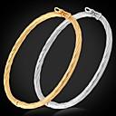 baratos Braceletes-Bracelete - Pedaço de Platina, Chapeado Dourado Pulseiras Prata / Dourado Para Casamento / Festa / Diário