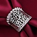 baratos Anéis-Mulheres Anel de declaração - Prata de Lei Personalizada, Clássico 7 / 8 Para Casamento / Festa / Diário