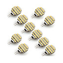 abordables Bombillas LED-10pcs 3W 300-400 lm G4 Luces LED de Doble Pin 24 leds SMD 3528 Blanco Cálido Blanco Fresco AC 12V