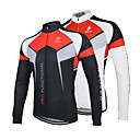 cheap Cycling Jerseys-Arsuxeo Men's Long Sleeve Cycling Jersey - White / Black Bike Jersey / Jacket, Quick Dry, Anatomic Design, Breathable