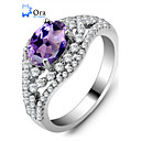 cheap Rings-Women's AAA Cubic Zirconia Ring - Sterling Silver, Zircon, Cubic Zirconia Fashion, Elegant One Size Silver / Lavender For Party