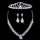 cheap Wedding Flowers-Women's Others Jewelry Set Earrings / Necklace / Tiaras - Regular For Wedding / Party / Special Occasion
