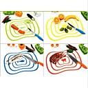 hesapli Meyve ve Sebze Araçları-Esnek ultra-ince mutfak araç meyve sebze kesme doğrama tahtası mat rastgele renk