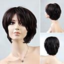 preiswerte Haarteil-Synthetische Perücken Locken Synthetische Haare Perücke Kappenlos Schwarz Braun
