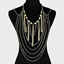 preiswerte Modische Halsketten-Körper-Kette / Bauchkette Einzigartiges Design, Party, Freizeit Damen Golden Körperschmuck Für Party