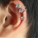 olcso Divat nyaklánc-Klipszes fülbevalók / Fülbevaló - Leaf Shape Vintage, Party, Munkahelyi Ezüst / Teveszín Kompatibilitás Parti