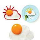 billige Kjøkkenutstyr og -redskap-1pc kjøkken Verktøy Rustfritt Stål Kreativ Kjøkken Gadget Gjør Det Selv Støpeform for Egg
