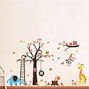 cheap Wall Stickers-Animals Cartoon Wall Stickers Plane Wall Stickers Decorative Wall Stickers, Vinyl Home Decoration Wall Decal Wall
