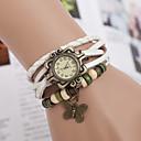 preiswerte Armband-Uhren-yoonheel Damen Armband-Uhr Armbanduhren für den Alltag Leder Band Schmetterling / Böhmische / Modisch Schwarz / Weiß / Braun / Ein Jahr / SODA AG4