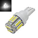 olcso LED izzók-210 lm T10 Dekoratív 10 led SMD 7020 Hideg fehér DC 12V