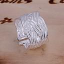 preiswerte Modische Halsketten-Damen Statement-Ring - versilbert Volkston Verstellbar Silber Für Hochzeit Party Alltag