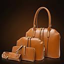 cheap Bag Sets-Women's Bags PU Tote / Shoulder Bag 4 Pieces Purse Set Black / Brown / Red