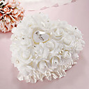 cheap Men's Accessories-Lace Heart Shape With White Rose and Bow Ring Box Pillow for Wedding(26*26*14cm)
