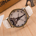 cheap Wall Stickers-Women's Quartz Wrist Watch Hot Sale Leather Band Casual Eiffel Tower Fashion Black White Blue Red Brown Green Pink Yellow