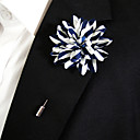 preiswerte Anstecker und Broschen-Damen Broschen - Blume Stilvoll Brosche Blau und Weiß Für Alltagskleidung