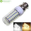 billige Kornpærer med LED-SENCART 1600-1900 lm B22 LED-kornpærer 56 LED perler SMD 5730 Dekorativ Varm hvit / Kjølig hvit 220-240 V / 110-130 V / RoHs