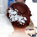cheap Party Headpieces-Pearl / Crystal / Fabric Tiaras / Flowers with 1pc / 1 Wedding / Party / Evening Headpiece / Alloy