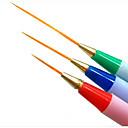 halpa Bi-pin LED-lamput-3kpl Nail akryylilohko kynsitaide Manikyyri Pedikyyri Synteettinen tukka / Muovi Klassinen Päivittäin / Harjat