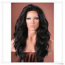 ieftine Peruci Dantelă Sintetice-Peruci Sintetice Ondulee Naturale Stil Față din Dantelă Perucă Negru Maro Închis Maro Medium Păr Sintetic Perucă Halloween Wig