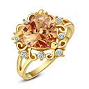 baratos Anéis-Mulheres Cristal Imitações de Diamante / Liga Anel de declaração - Amor / Coração / Fashion Vermelho / Champanhe Anel Para Casamento /