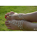 cheap Bracelets-Crystal Anklet Barefoot Sandals - Crystal, Imitation Diamond Unique Design, Bikini, Fashion Silver For Wedding / Party / Daily / Women's