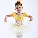 billige Danseklær til barn-Ballet Kjoler / Kjoler & Skjørt / Tutuer & Skjørter Trening / Ytelse Bomull / Tyll Kort Erme Prinsesse Kjole / Ballett