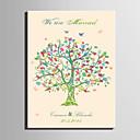 billige Signaturrammer og fat-e-home® personalisert fingeravtrykk maleri lerret utskrifter -De fargen på treet (inkluderer 12 blekkfarger)