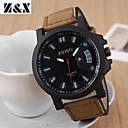 cheap Cell Phone Cases & Screen Protectors-Men's Quartz Military Watch Hot Sale Leather Band Charm Black Brown