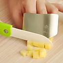 abordables Herramientas Para Vegetales y Verduras-dedo del acero inoxidable de la cocina del protector de la mano 6.5x4.5x2cm