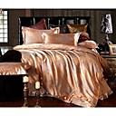 cheap Floral Duvet Covers-Duvet Cover Sets Solid Colored Poly / Cotton Jacquard 4 Piece