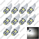 abordables Luces de Exterior para Coche-SO.K 10pcs T10 Coche Bombillas 10w SMD 5050 10 lm 5 Luz de Intermitente For Universal