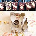 baratos Utensílios de Cozinha-4 peças urso dos desenhos animados com forma de biscoito cortadores violino conjunto moldes frutas cortadas em aço inoxidável