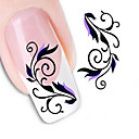 cheap Nail Stickers-1 pcs Water Transfer Sticker / 3D Nail Stickers Flower / Abstract / Fashion Daily