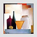 billige Stillebenmalerier-Hang malte oljemaleri Håndmalte - Still Life Europeisk Stil Moderne Lerret