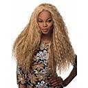 halpa Pikkulahjat - pullot-Synteettiset peruukit Kinky Curly Synteettiset hiukset Afro-amerikkalainen peruukki Peruukki Naisten Suojuksettomat Sateenkaari