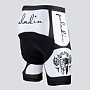 cheap Cycling Pants, Shorts, Tights-ILPALADINO Men's / Unisex Cycling Padded Shorts Bike Pants / Trousers 3D Pad, Quick Dry, Windproof Holiday, Fashion, Skull Lycra White /