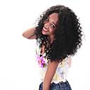preiswerte Echthaar Perücken mit Spitze-Echthaar Spitzenfront Perücke Locken Perücke 130% Natürlicher Haaransatz / Afro-amerikanische Perücke / 100 % von Hand geknüpft Damen Kurz / Medium / Lang Echthaar Perücken mit Spitze